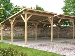 Prístrešok s pultovou strechou - modulový