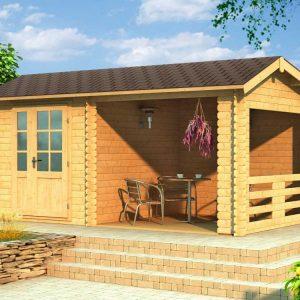 Záhradný domček s terasou 104