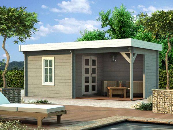 Záhradný domček s terasou 108