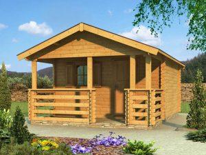 Záhradný domček s terasou 955