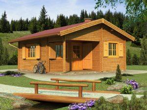 Zrubová chata Andrea - prízemná