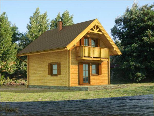 Zrubová chata Bodíky - poschodová drevenica