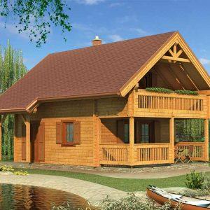 Zrubová chata Bodíky s terasou