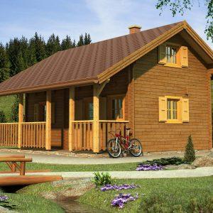 Zrubová chata Ivana - poschodová drevenica