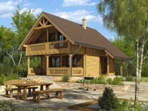 Zrubová chata Lea - poschodová drevenica