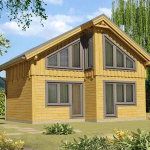 Zrubová chata Renáta - poschodová drevenica