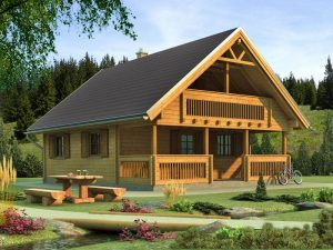 Zrubová chata Timea-T - poschodová drevenica
