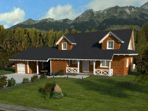 Zrubový dom Aljaška - poschodový drevodom
