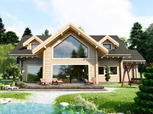 Zrubový dom Colorado - poschodový drevodom