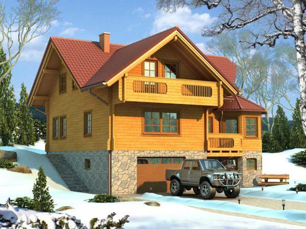 Zrubový dom Dominant - poschodový drevodom