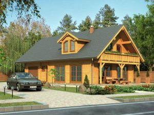 Zrubový dom Henrieta - poschodový drevodom