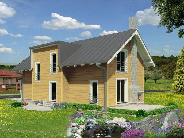 Zrubový dom Katka - poschodový drevodom