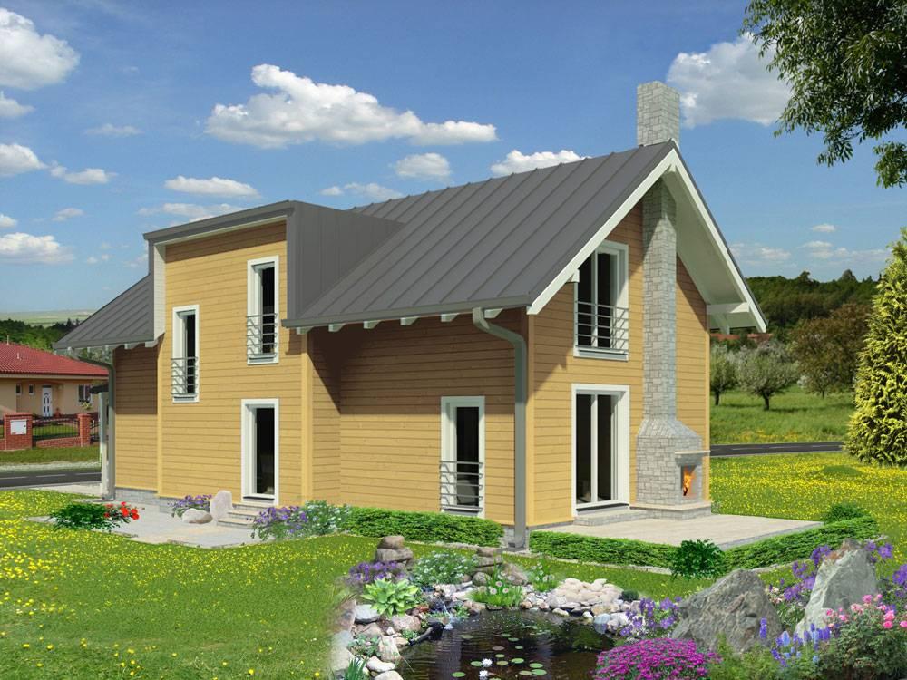 Zrubový dom Katka – poschodový drevodom