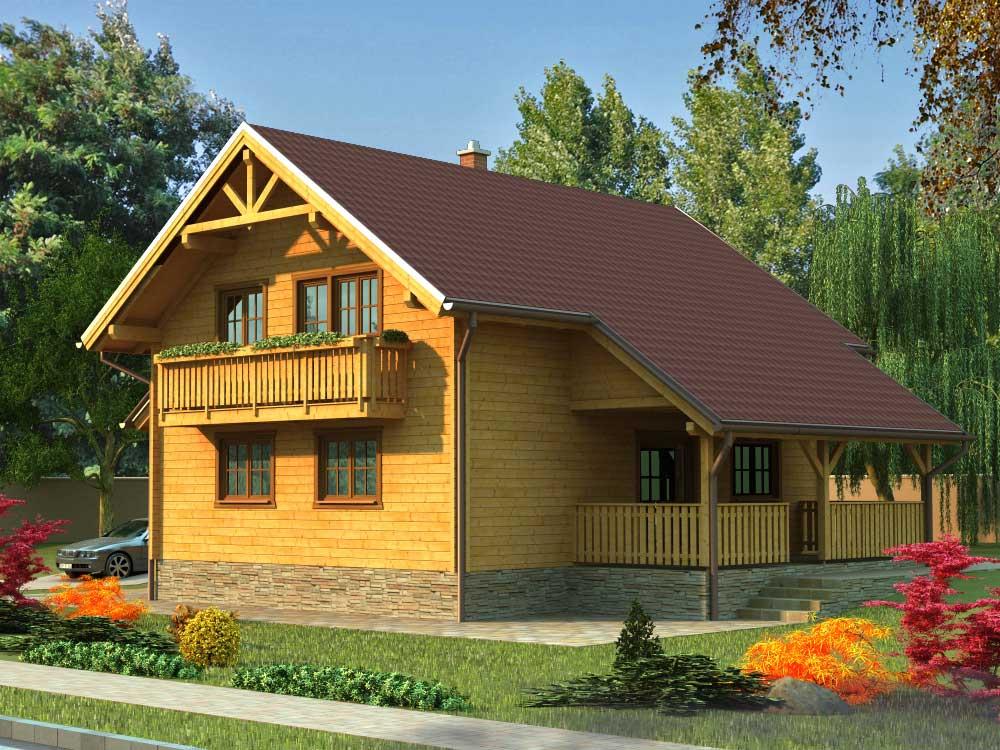 Zrubový dom Komfort – poschodový drevodom
