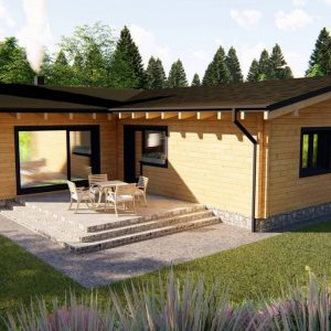 Zrubový dom Leo - drevený bungalov