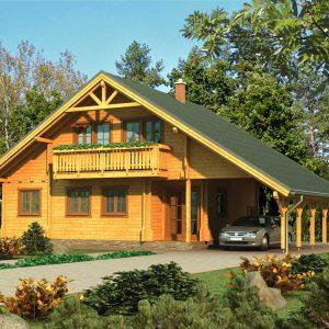 Zrubový dom Malacky - poschodový drevodom