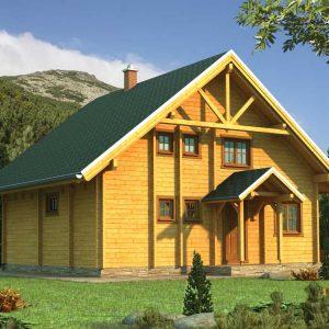 Zrubový dom Michaela - poschodový drevodom