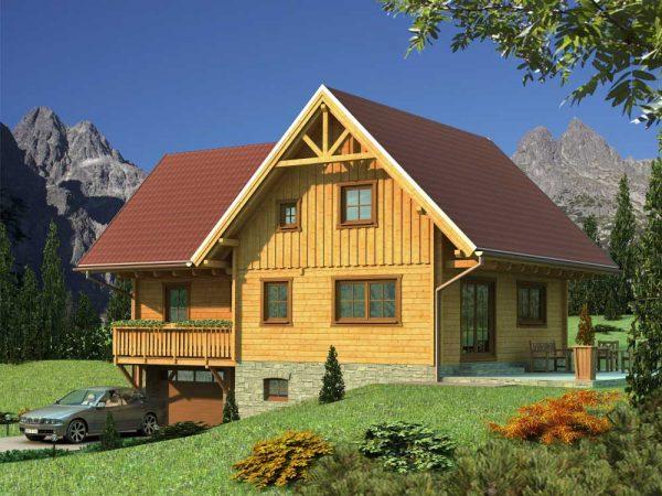 Zrubový dom Milena - poschodový drevodom