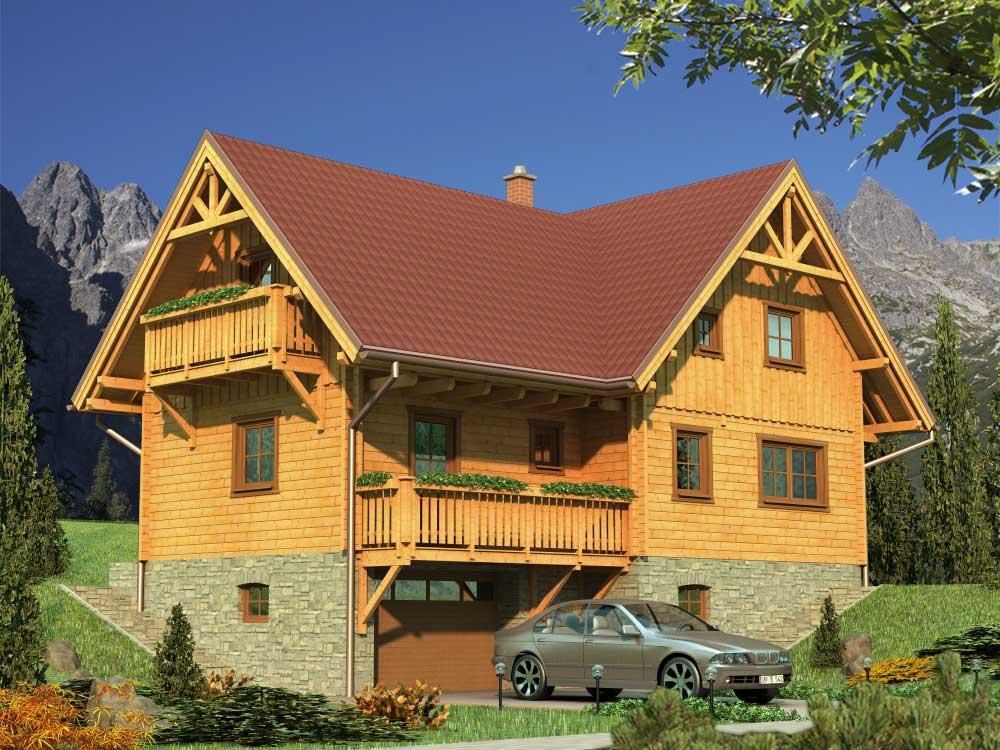 Zrubový dom Milena – poschodový drevodom