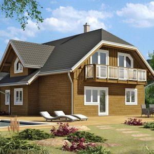 Zrubový dom Monarch - poschodový drevodom
