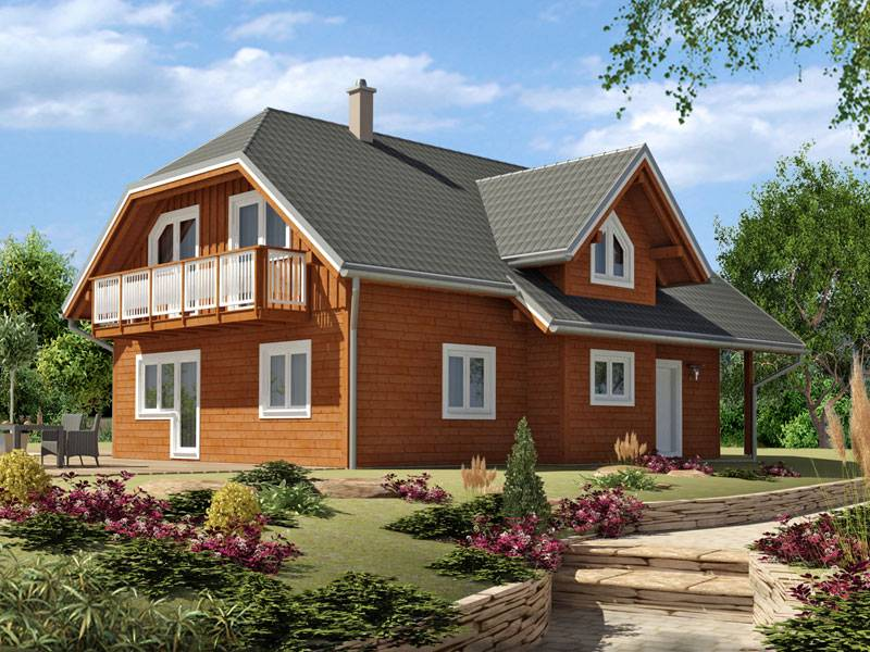 Zrubový dom Monarch – poschodový drevodom