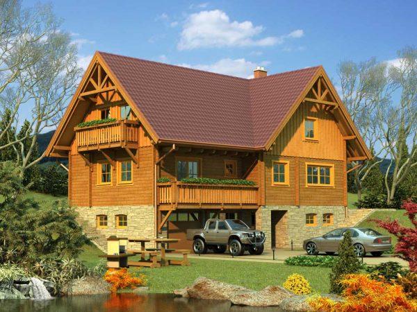 Zrubový dom Morava - poschodový drevodom
