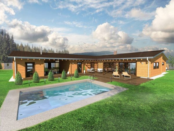 Zrubový dom Oscar - drevený bungalov