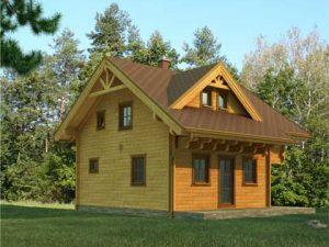 Zrubový dom Priehrada - poschodový drevodom