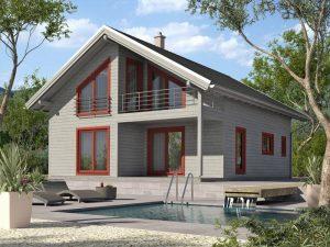 Zrubový dom Silvia - poschodový drevodom
