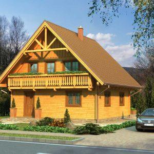 Zrubový dom Táňa - poschodový drevodom