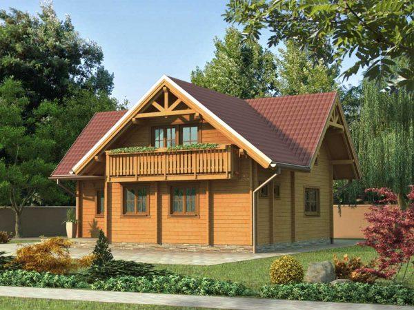 Zrubový dom Valéria - poschodový drevodom
