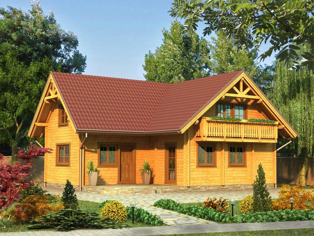 Zrubový dom Valéria – poschodový drevodom