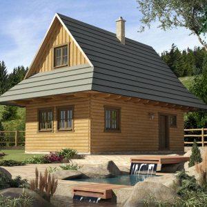 Zrubová chata Drevenica Lesná - poschodový zrub