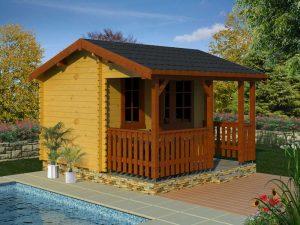 Záhradný domček s terasou 980