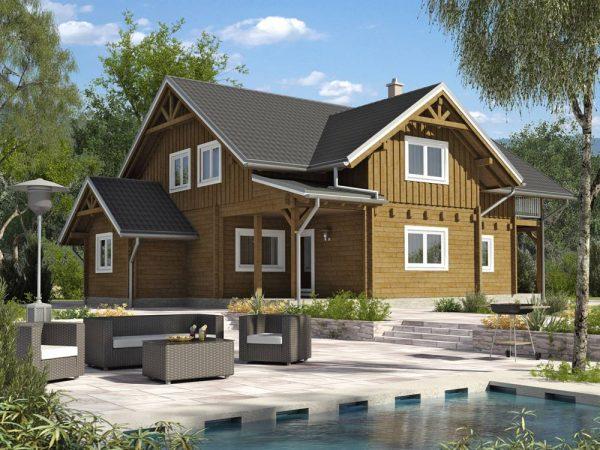 Zrubový dom Gigant - poschodový drevodom