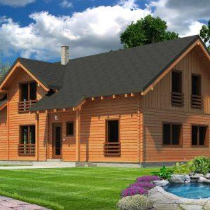 Zrubový dom Harmony - poschodový drevodom