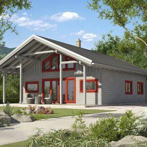 Zrubový dom Lucia - poschodový drevodom