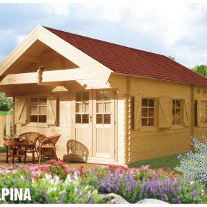 Zrubová chata Alpina s podkrovím - víkendová