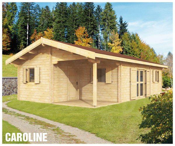 Zrubová chata Caroline - prízemná