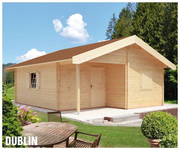 Zrubová chata Dublin - prízemná