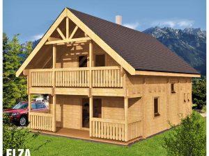 Zrubová chata Elza - poschodová drevenica