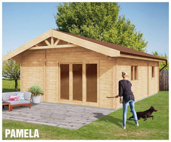 Zrubová chata Pamela - prízemná