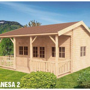 Zrubová chata Vanesa 2 s podkrovím - víkendová