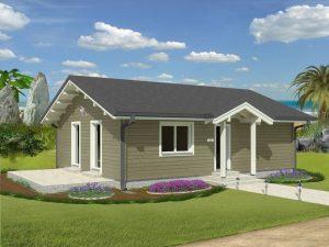 Zrubový dom Bonanza - drevený bungalov