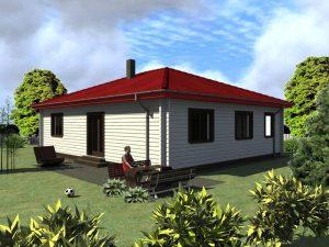 Zrubový dom Bungalov-1D - drevený bungalov