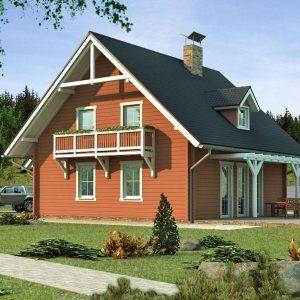 Zrubový dom Klasik - poschodový drevodom