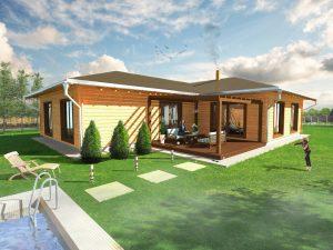 Zrubový dom Marika - drevený bungalov