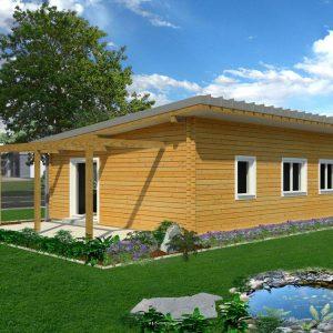 Zrubový dom Miško - drevený bungalov