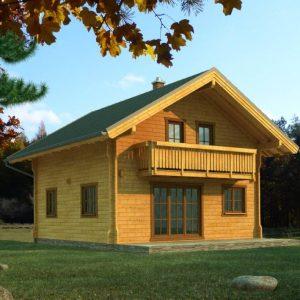 Zrubový dom Orava - poschodový drevodom
