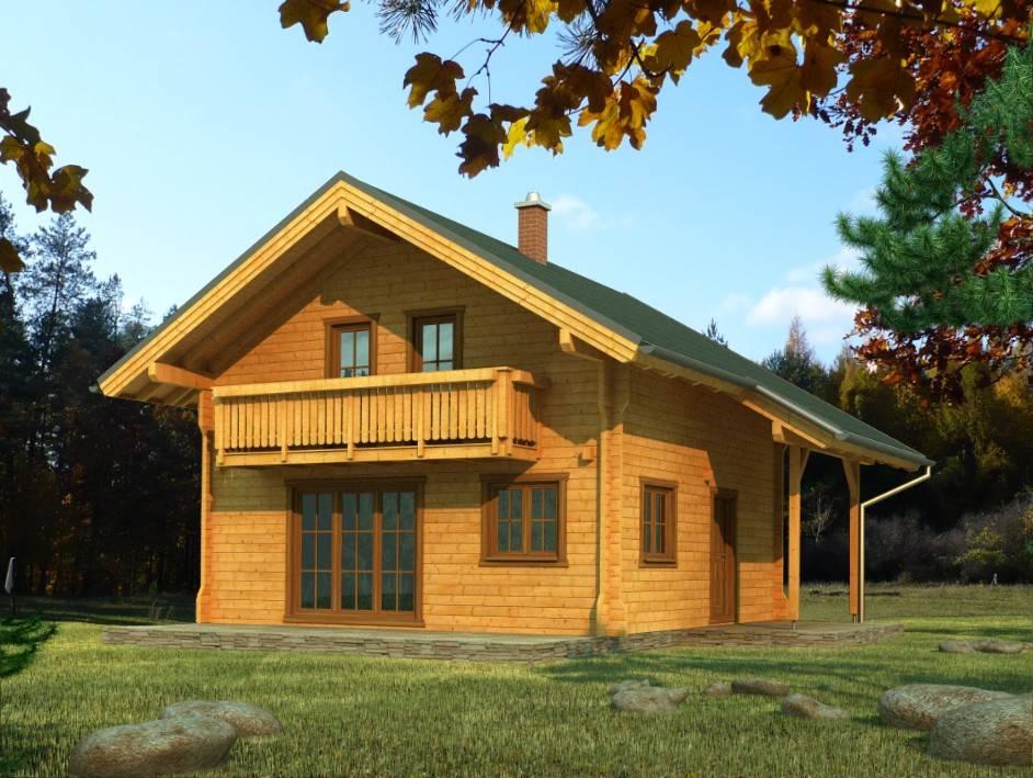 Zrubový dom Orava – poschodový drevodom